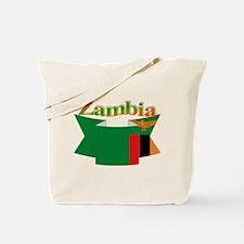 Flag ribbon Zambia Tote Bag