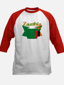 Flag ribbon Zambia Tee