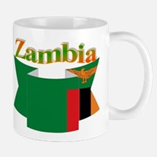 Flag ribbon Zambia Mug