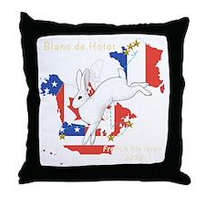 French Blanc de Hotot Invastion Throw Pillow