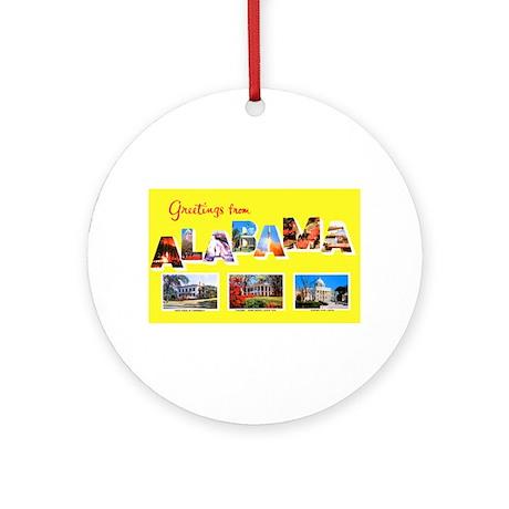 Alabama Greetings Ornament (Round)