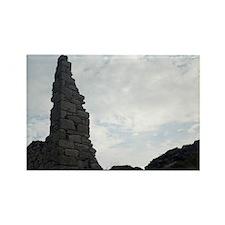 Tin mine ruins, Botallack Rectangle Magnet
