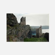 Ruins of tin mines, Botallack Rectangle Magnet