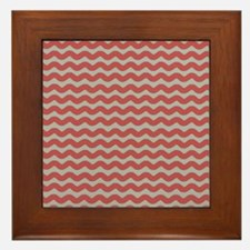 Red and Gray Wave Framed Tile