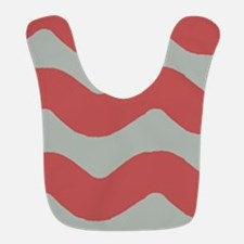 Red and Gray Wave Bib