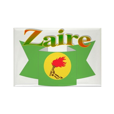 Flag ribbon Zaire Rectangle Magnet