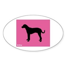 Catahoula iPet Oval Decal