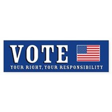 Vote - It's Your Right Bumper Bumper Sticker