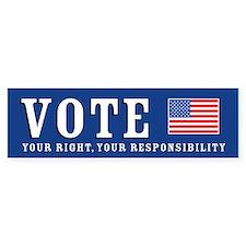 Vote - It's Your Right Bumper Car Sticker