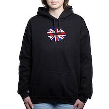 UK Flag Union Jack Lips Women's Hooded Sweatshirt