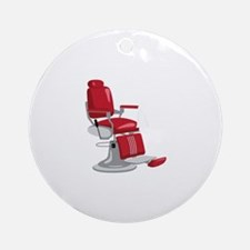 Barber Chair Ornament (Round)