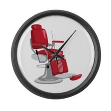 Barber Chair Large Wall Clock