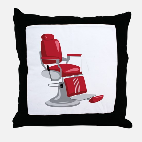 Barber Chair Throw Pillow