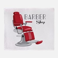 Barber Shop Throw Blanket