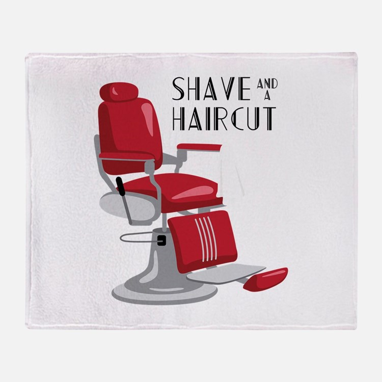 Save And A Haircut Throw Blanket