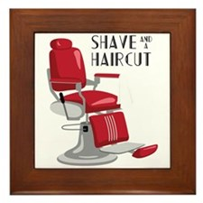 Save And A Haircut Framed Tile