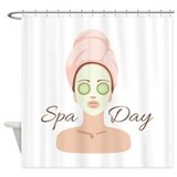Spa day Shower Curtains
