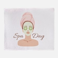 Spa Day Throw Blanket