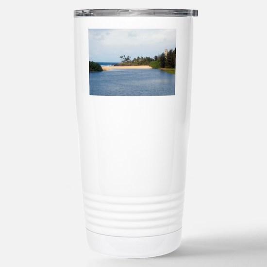 waimea beach park sands Stainless Steel Travel Mug