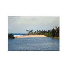 waimea beach park sands Rectangle Magnet
