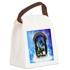 Dragon is at the window Canvas Lunch Bag