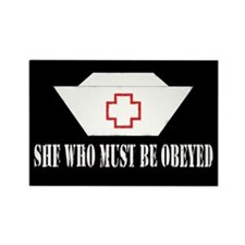 She Who Must Be Obeyed Rectangle Magnet
