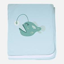 Anglerfish baby blanket