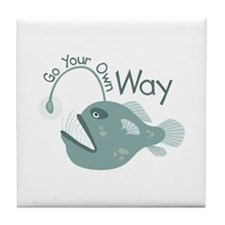 Go Your Own Way Tile Coaster