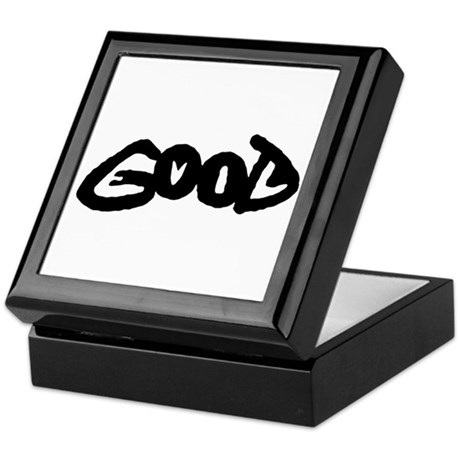 Good vs Evil black & white Keepsake Box
