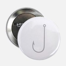 "Fish Hook 2.25"" Button (10 pack)"