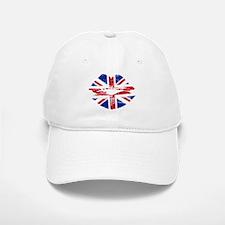 UK Flag Union Jack Lips Baseball Baseball Baseball Cap