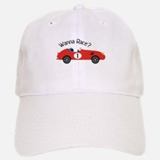 Wanna Race? Baseball Baseball Baseball Cap