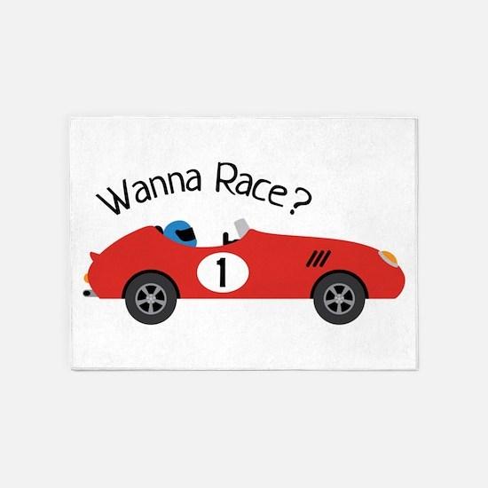 Wanna Race? 5'x7'Area Rug