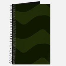 Dark Green Chevron Waves Journal