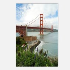 golden gate bridge south Postcards (Package of 8)