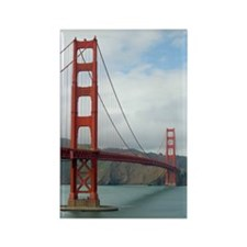 golden gate and bridge Rectangle Magnet