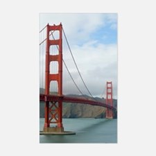 golden gate and bridge Decal