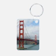 golden gate and bridge Keychains