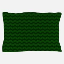 Forest Green Wavy Chevron Pillow Case