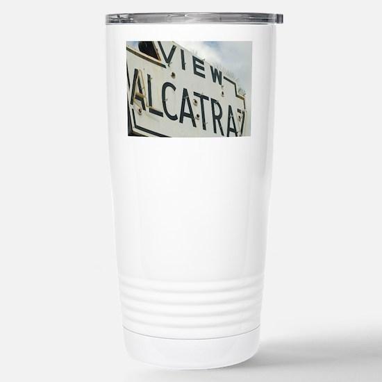 Historic Alcatraz Sign Stainless Steel Travel Mug