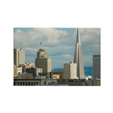 san francisco hotels and building Rectangle Magnet