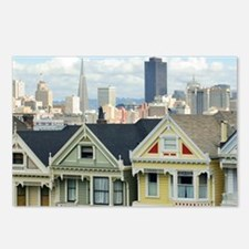 Alamo Square roofline Postcards (Package of 8)