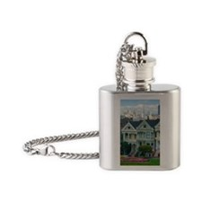 Painted Ladies Flask Necklace