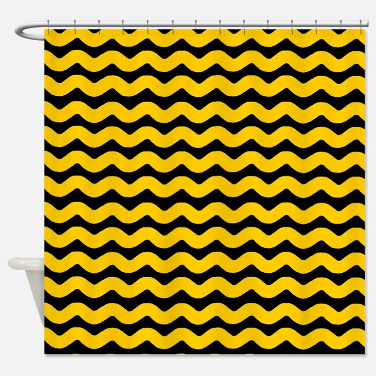 Black And Yellow Shower Curtains Black And Yellow Fabric Shower Curtain Liner