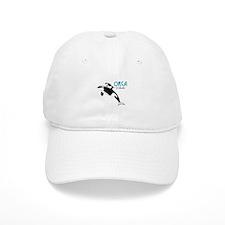 Orca Whales Baseball Baseball Cap