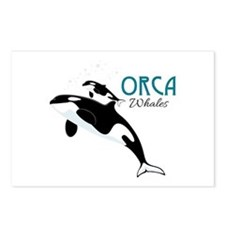 Orca Whales Postcards (Package of 8)