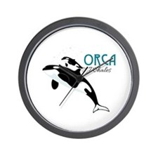 Orca Whales Wall Clock
