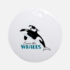 Save The Whales Ornament (Round)