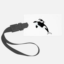 Killer Orca Whales Luggage Tag