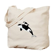 Killer Orca Whales Tote Bag